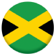 Jamaica Country Flag 58mm Mirror Keyring